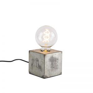 Industriële tafellamp grijs - Samia Sabo